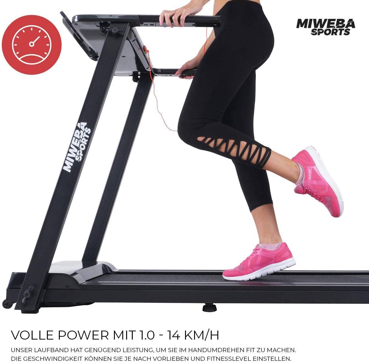 Miweba Sports HT500 - Cinta de Correr eléctrica (Plegable, 0,75 PS ...