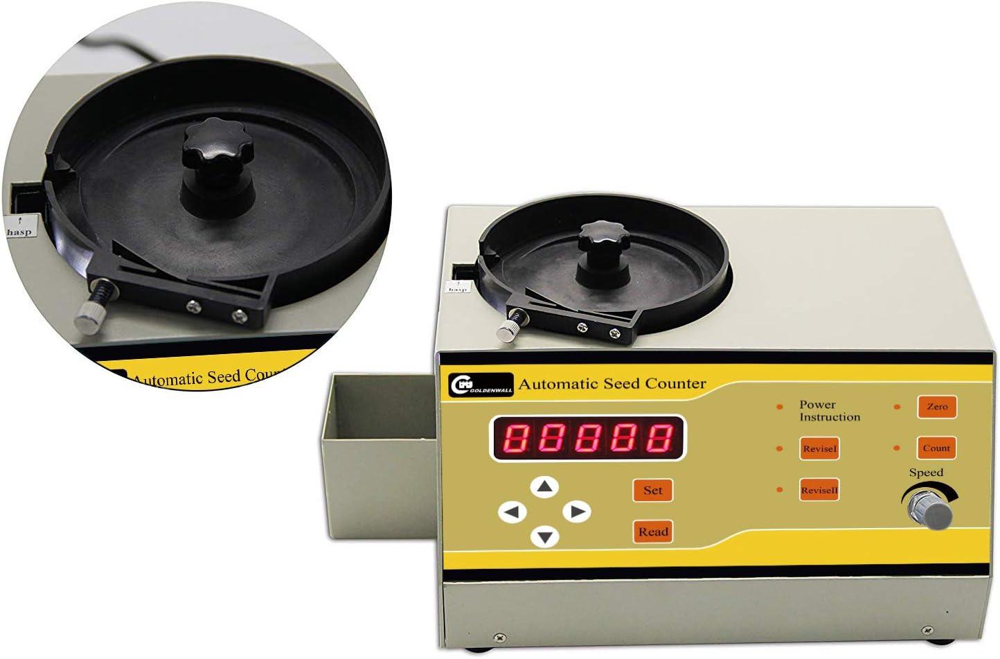 CGOLDENWALL Contador de Semilla Automático Máquina de Contar para Semillas de Varios Tipos Instrumento de Conteo de Microordenador (SLY-C, para Semillas de Varias Formas)