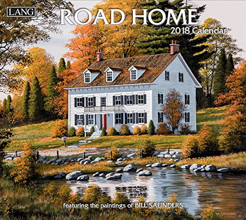 "LANG - 2018 Wall Calendar - ""Road Home"", Artwork by Bill Saunders - 12 Month - Open 13 3/8"" X 24"""
