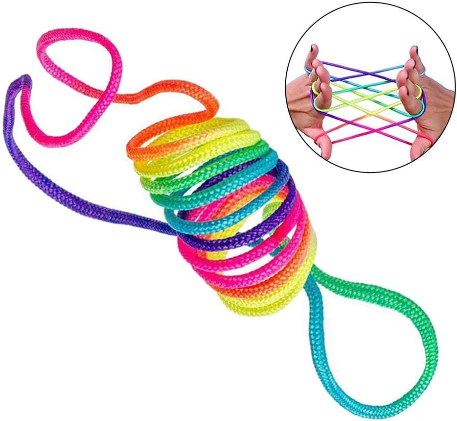 gaeruite Corde darc-en-Ciel de Corde /à Doigts Rainbow Toy Doigt Jeu color/é de Corde de Jouet de Corde darc-en-Ciel