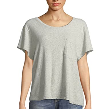 e6864110ca0 Image Unavailable. Image not available for. Color: James Perse Women's  Cropped Boxy Tee ...
