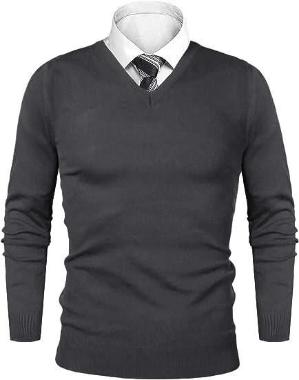 iClosam Maglioni Uomo Invernali Lana Knit V-Neck Pullover Giacca in Maglia Maglione Felpa Uomos