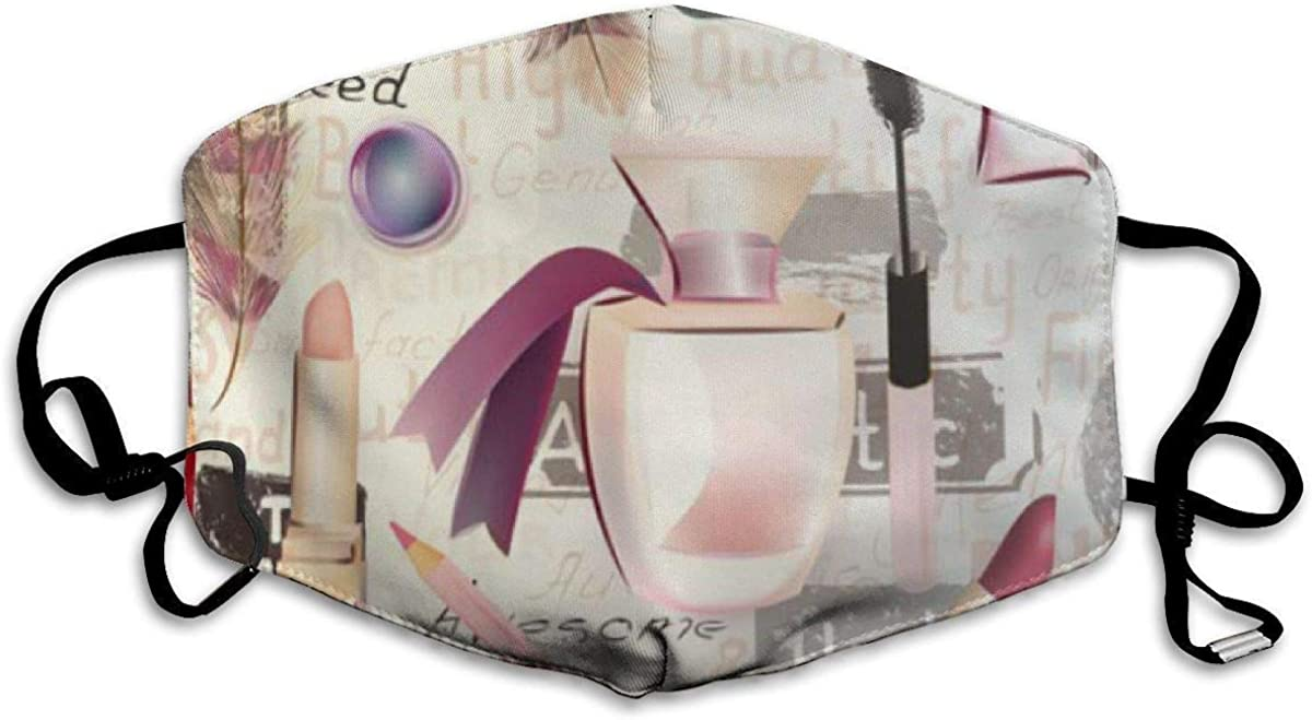 Go Out Mask Fashion Graphic Cover Masks,Beauty and from Watercolor Cosmetics Make Up Artists Lipstick Nail Perfumes Eye