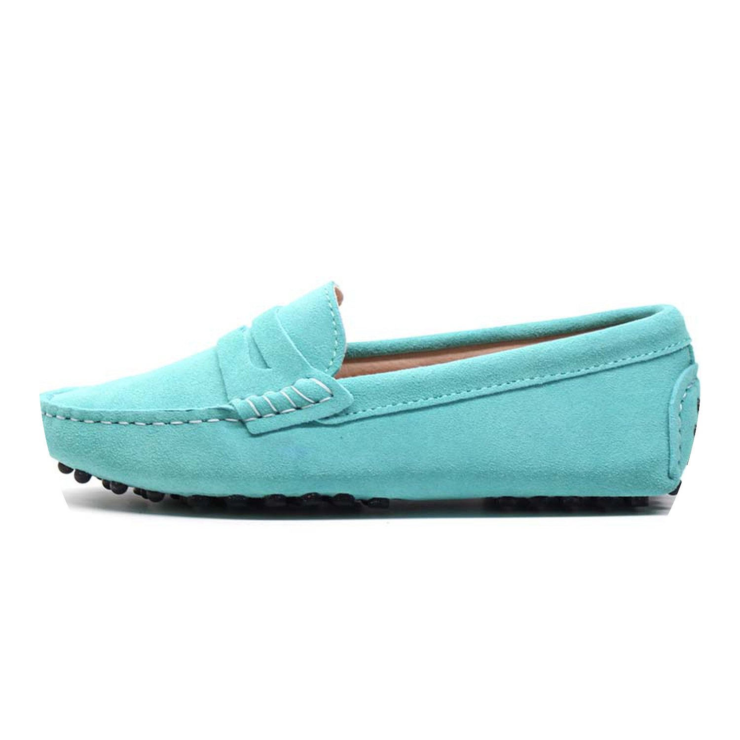 2018 New Women Flats Genuine Leather Driving Shoes Summer Women Casual Shoes B07DTXNC3N 8 B(M) US|Mint Green