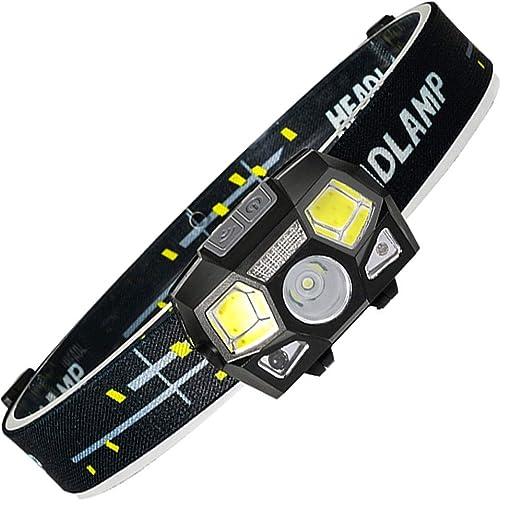 CZDZXXX Faros LED, Ligero y cómodo, Modos Super Brillante Torchs ...
