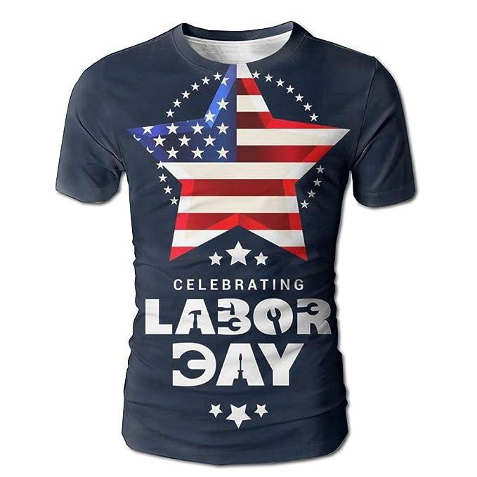 d16386824d Amazon.com: Bo Fair Celebrating Labor Day Men Cool Comfy Cotten Funny Crew  Neck T-Shirt Tees White: Clothing