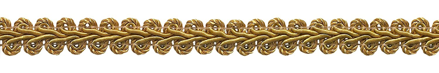 DecoPro 9 Meter Value Pack of 1.27cm Basic Trim French Gimp Braid, Style# FGS Color: GOLD - C4 (30 Ft./9.5 Meters)