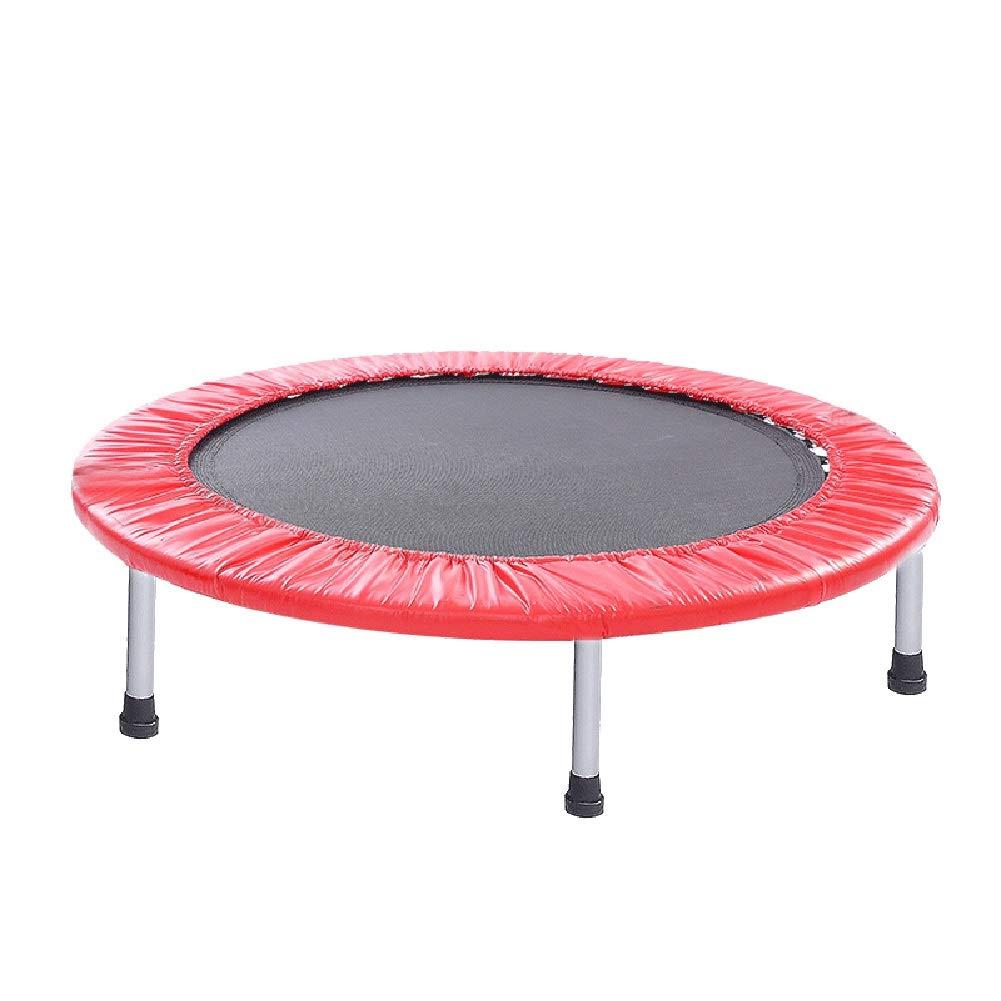 36-Zoll-Trampolin, tragbare Innentrampoline mit Sicherheitsunterlage, Mini-Fitness für Kinder, Erwachsene, Rot