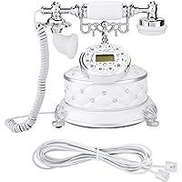 Folany Teléfono Retro, teléfono Vintage Blanco Decorativo de imitación práctico, para el apartamento del Hotel de la…