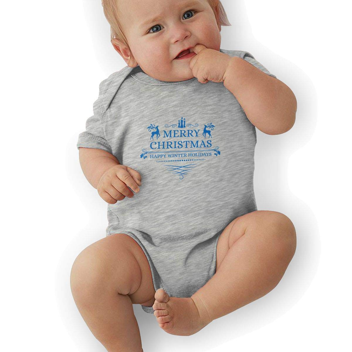 Toddler Baby Boys Bodysuit Short-Sleeve Onesie Merry Christmas Cool Logo Print Outfit Autumn Pajamas