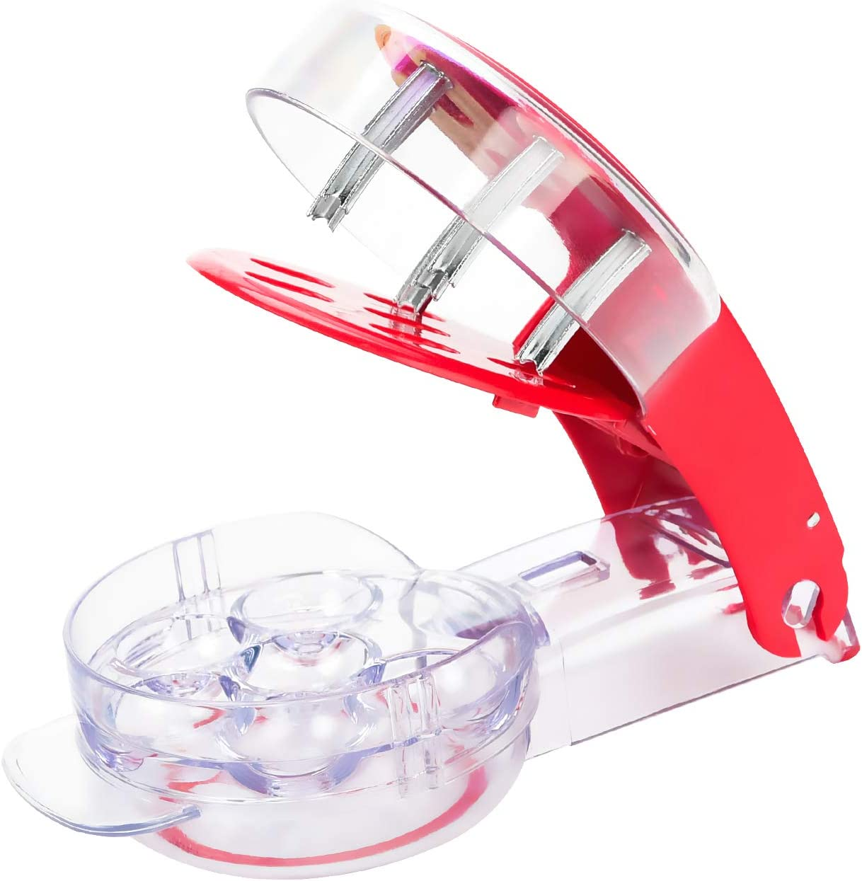 Cherry Pitter, Olive Corer, Multiple Fruit Remover Tool Pit, Juice Container Recipe EBOOK-6 Cherries at Once