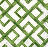 Entertaining with Caspari 7550D Bamboo Green Napkin Dinner, Multicolor