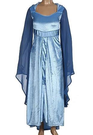 Runyue Disfraz Traje Medieval para Mujer Vestido Largo ...