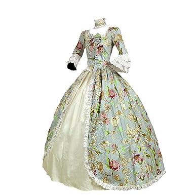 Amazon.com: Partiss Womens Victorian Renaissance Costume Marie ...