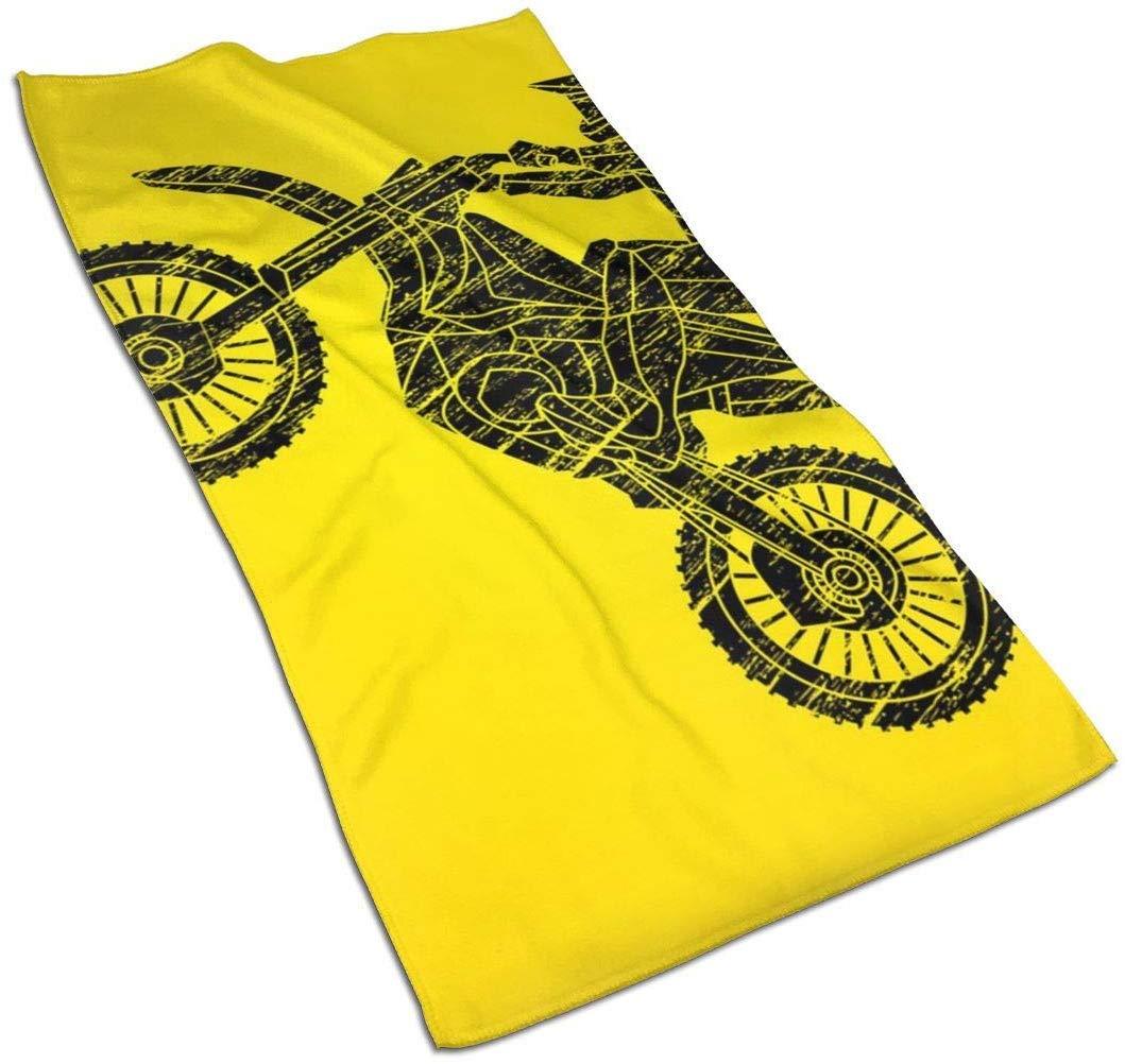 Filles et Adultes Gar/çons VLOOQ-HX Moto Cross Jumping Freestyle Motocross Superfine Fibres Essuie-Mains Ultra Doux Serviette de Plage Serviette de Bain Piscine pour Enfants