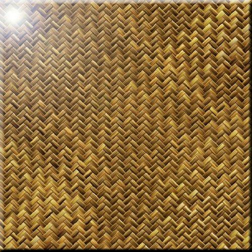 12 x 12 Rikki Knight Grunge Gold Basket Weave Design Ceramic Art Tile