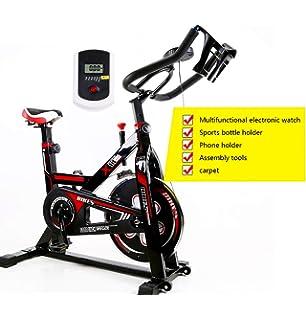 QQLK Bicicleta EstáTica Indoor - Bicicleta De Spinning - Ejercicio Bicicleta con Pantalla Led, Ajuste De Resistencia, Soporte De Carga 120 Kg: Amazon.es: Hogar