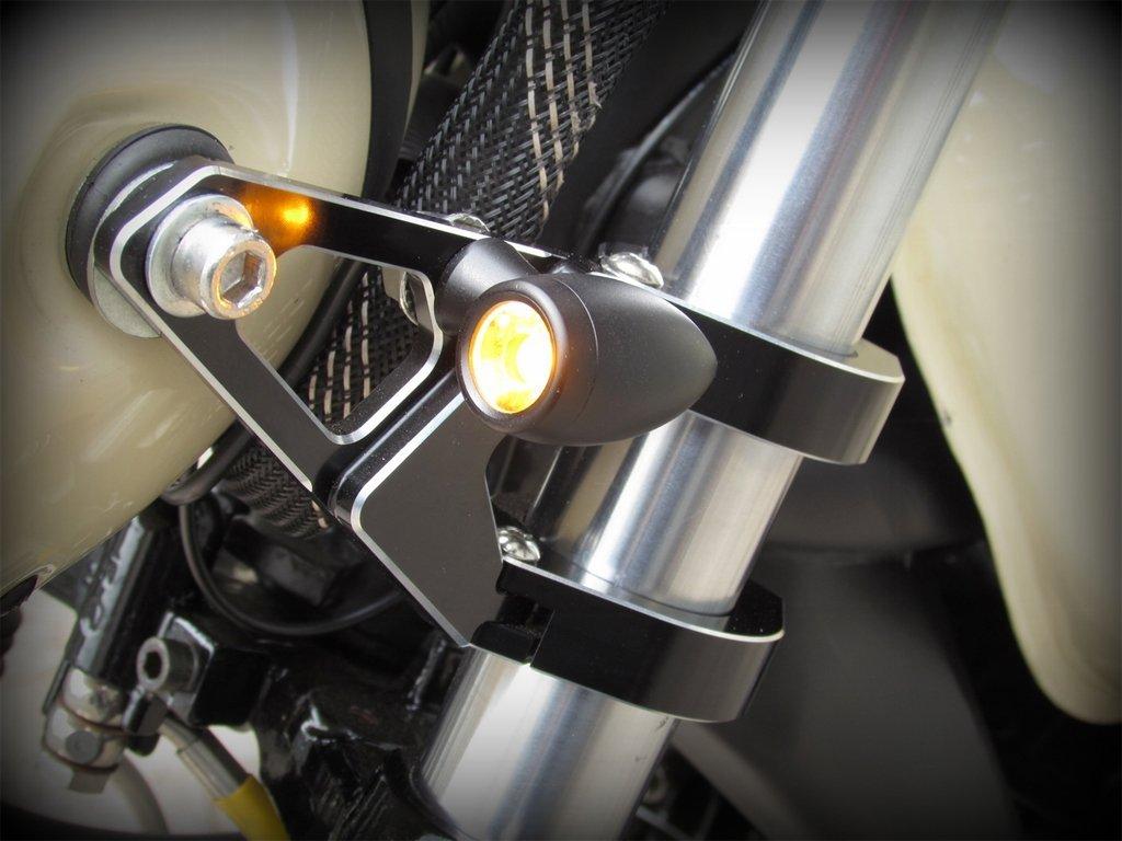 Concepts MAX Chubby Matte Black Machined Aluminium Micro Motorcycle LED Indicators//Turn Signals