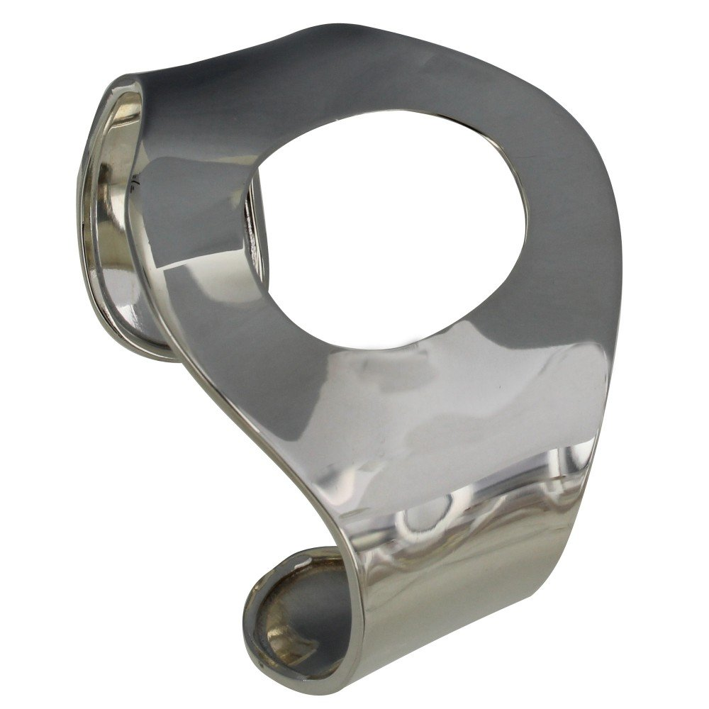 Les Poulettes Jewels - Sterling Silver Bracelet Cuff Hollowed