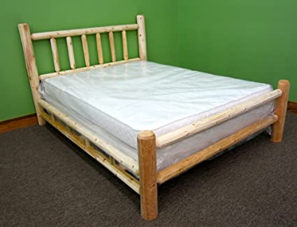 Amazon Com Midwest Log Furniture Premium Log Bed Queen Kitchen