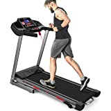 Merax Electric Folding Treadmill Running Jogging Machine with Shock-Absorbing Running Board for Home Use