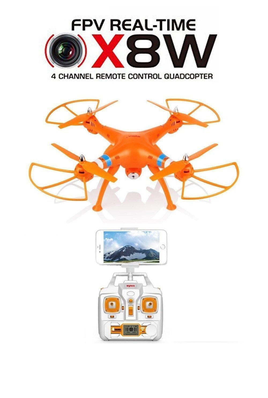 Successory® New Upgrade Version Syma X8w Explorers Wifi FPV RC Quadcopter mit Kamera Rtf (Orange)