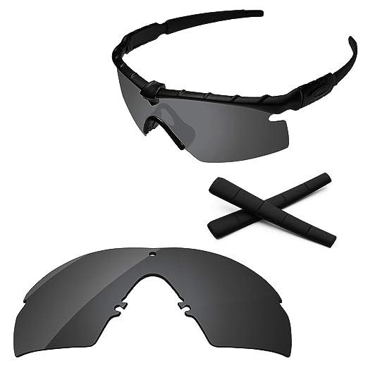 285dd10a162 PapaViva Lenses Replacement   Ear Socks for Oakley M Frame 2.0 Strike Black  Grey