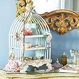 ケーキスタンド ディスプレイスタンド 北欧風 お菓子皿 3段ハイティースタンド お菓子 結婚式 誕生日 パーティー用 シーズンズ 段ボール材質 ケーキスタンドの組み立て 鳥かごの形
