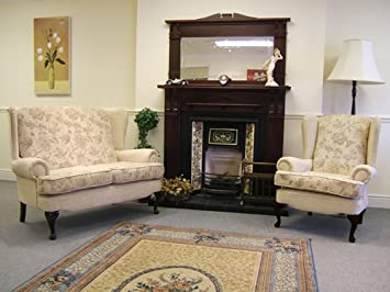 Cotswold 2 Seater Cottage Style Sofa And 2 Wing Arm Chairs