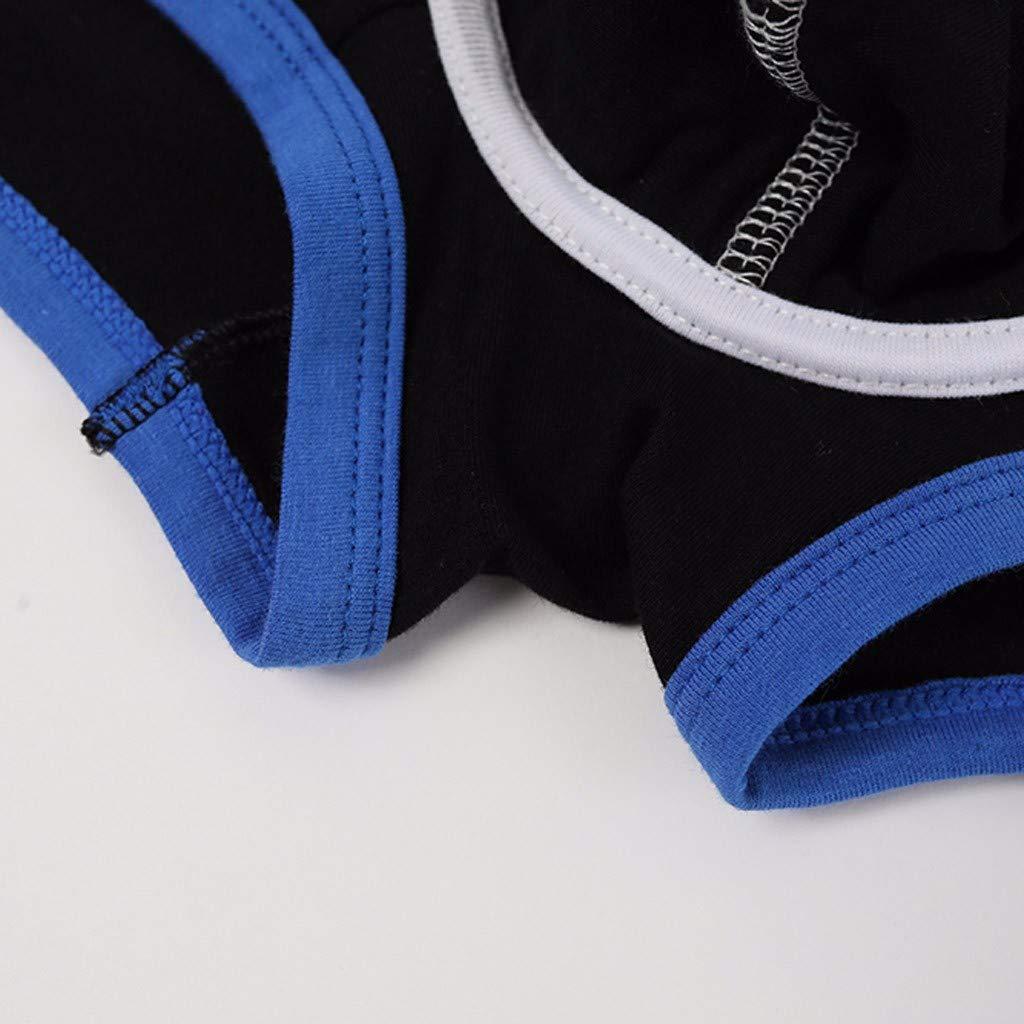 Fasclot Mens Underpants Boxer Briefs Breathable Pouch Trunk Underwear Brand Letters Print Mens Underwear