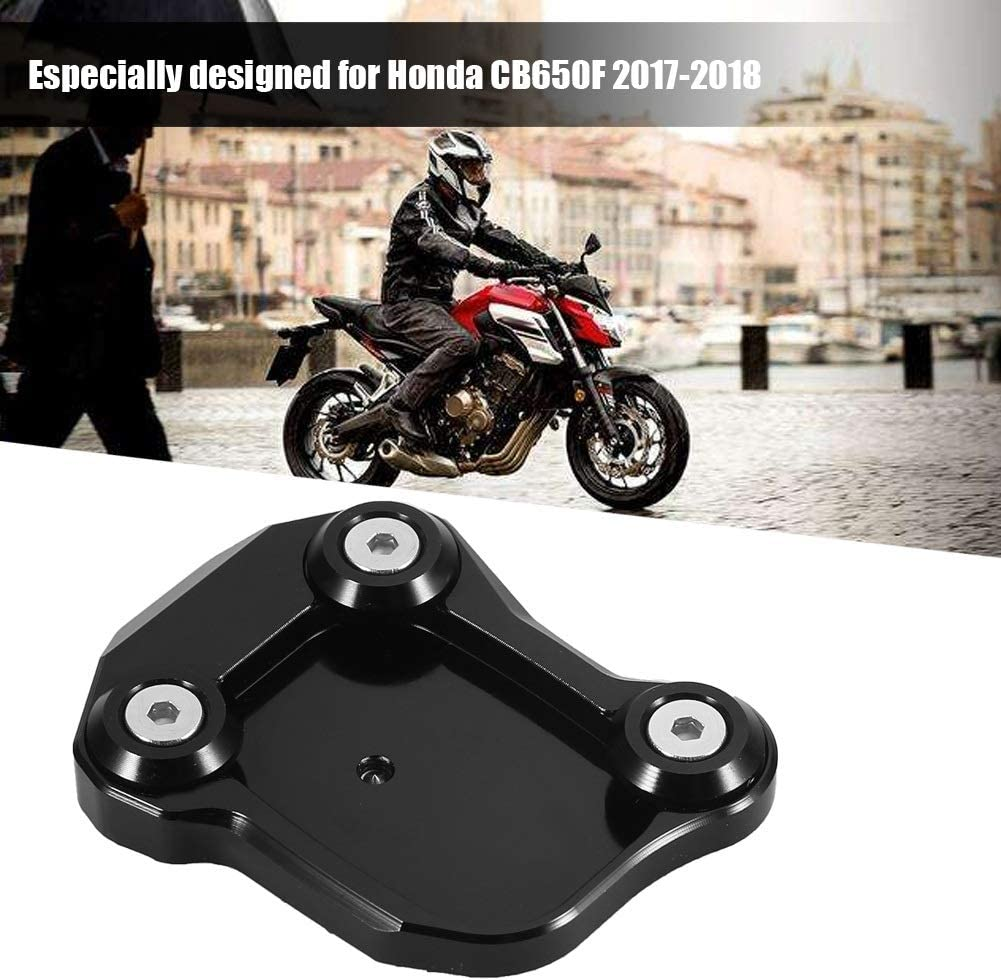 Kickstand 1 PC of Motorcycle Modification Enlarger Anti-slide Side Kick Foot Stand Pad for Honda CB650F 2017-2018.