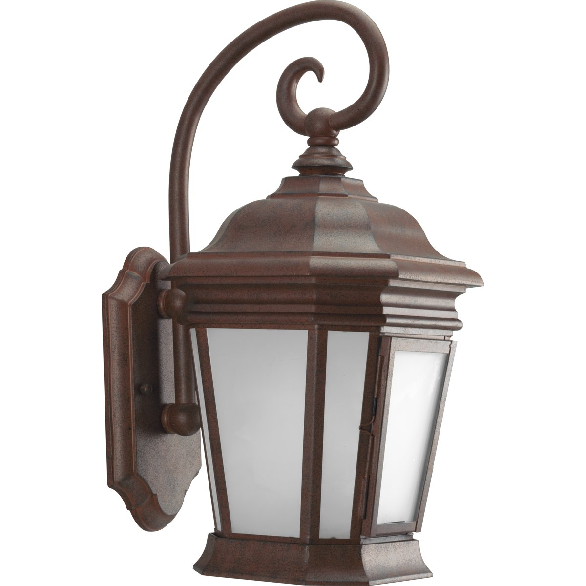 Progress Lighting P5686-33EB One-Light Etched Glass Wall Lantern with Photocell and 120 Volt Normal Power Factor Electronic Ballast, Cobblestone
