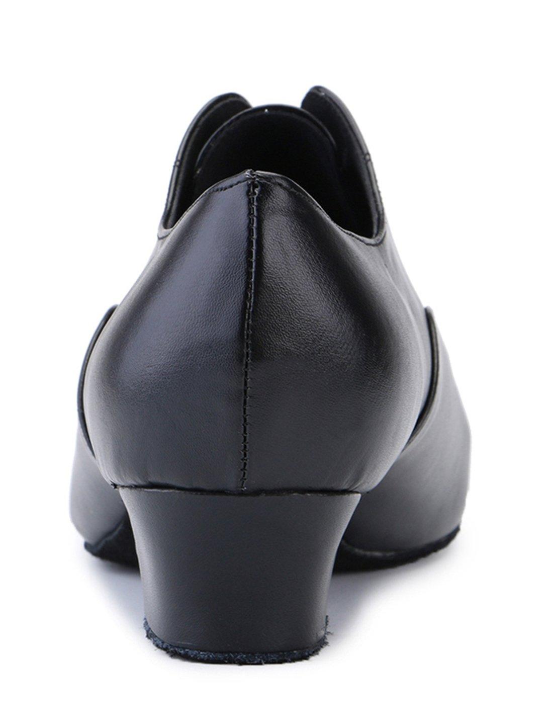 8429f2b3d TDA Zapatos clásicos de cuero con cordones para hombre Zapatos de boda de  baile latina Tacón negro-4.5cm