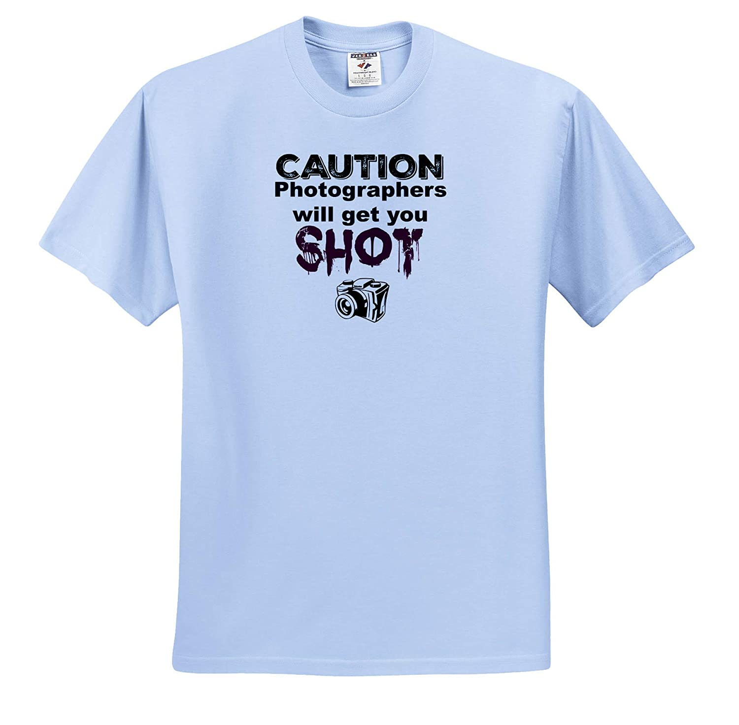 T-Shirts Image of Caution Photographers Will Get You Shot 3dRose Carrie Merchant Quote
