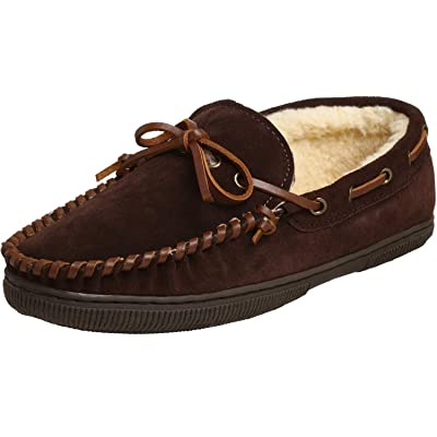 Pile Lined Moccasin #1918 Brown, 15EW: Shoes