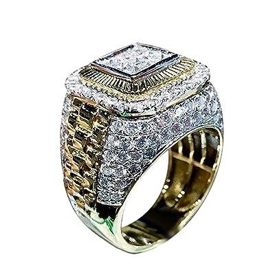 Tronet rings for Women Business Men Fashion Jewelry Boyfriend Gift Ring Wedding Ring Jewelry Size 6-13Gift for a Girlfriend, Boyfriend, Family : Sports & Outdoors
