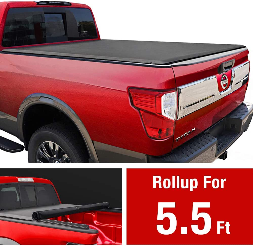 MaxMate Soft Roll Up Truck Bed Tonneau Cover (2004-2015 Nissan Titan)
