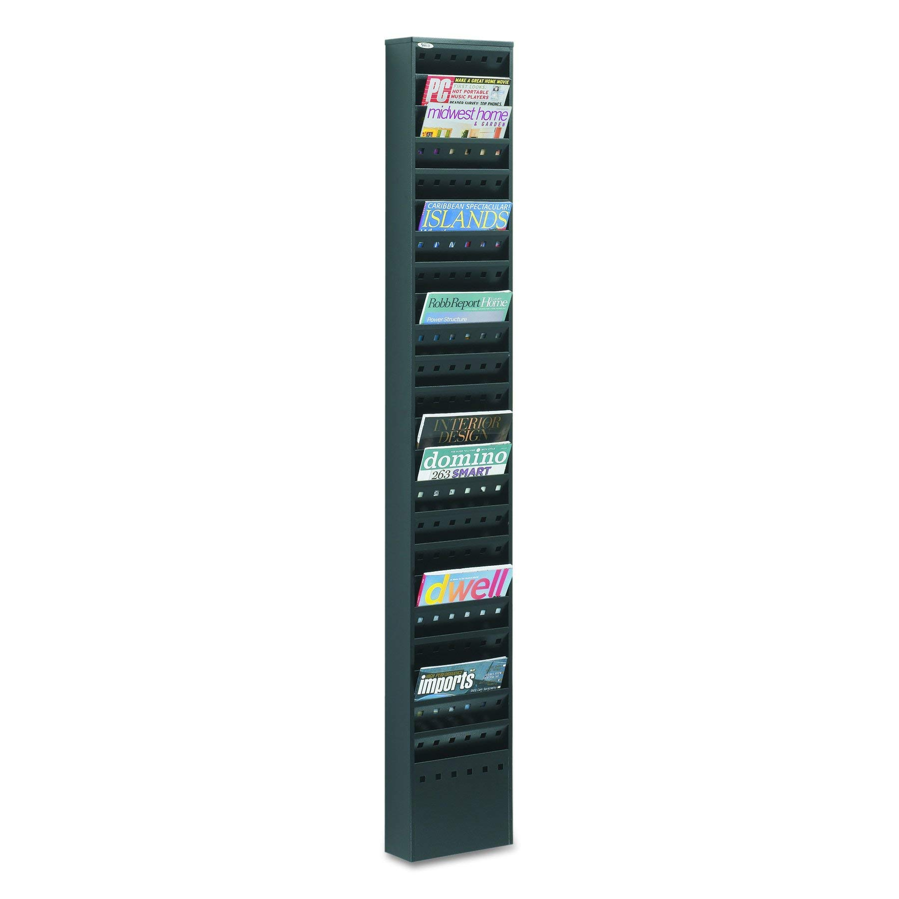 Safco Products 4322BL Steel Magazine Rack, 23 Pocket, Black by Safco Products
