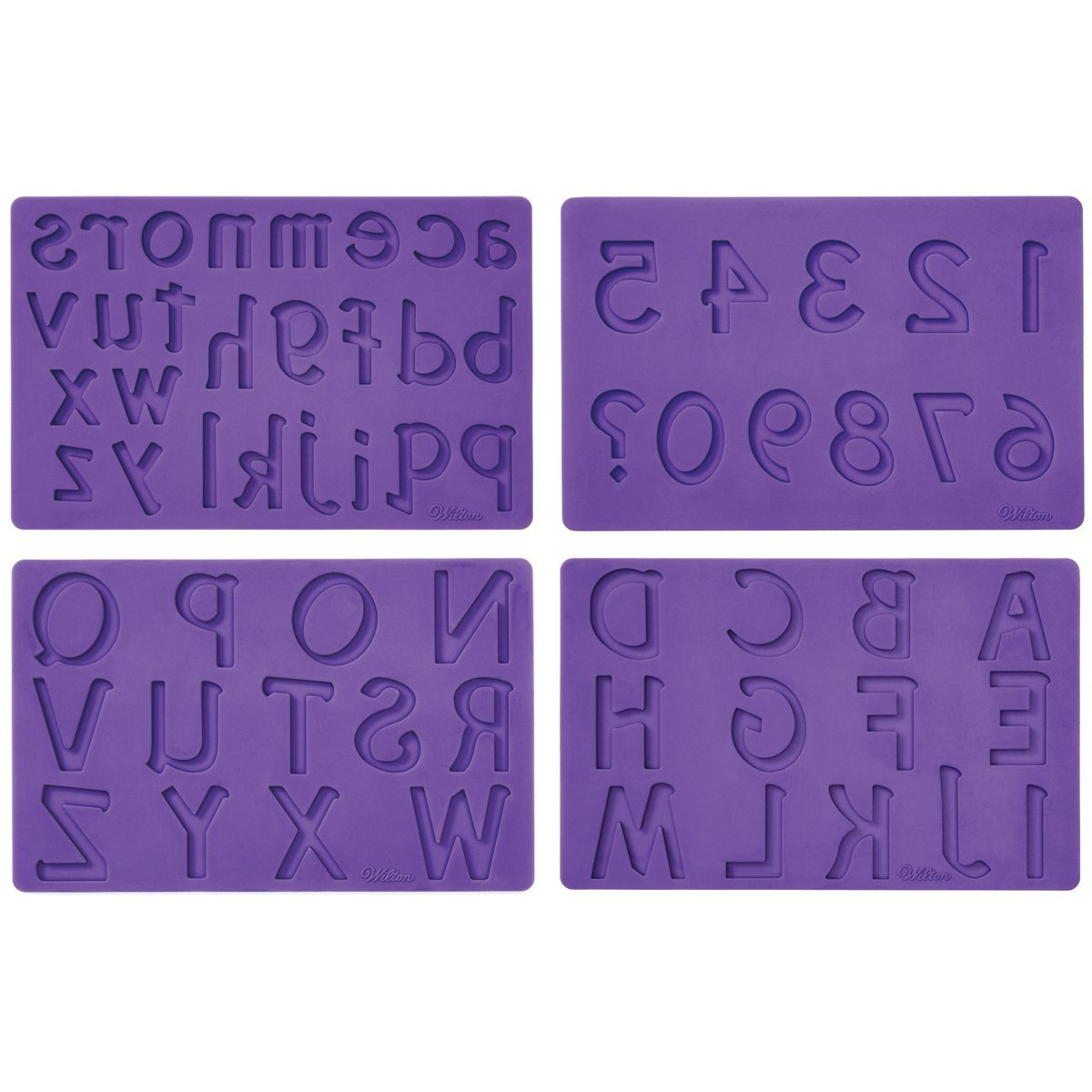 Wilton Silicone Letters and Numbers Fondant and Gum Paste Molds, 4-Piece - Cake Decorating Supplies by Wilton (Image #2)