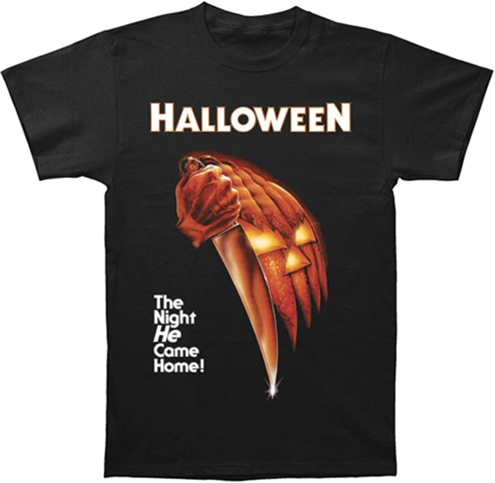 Men's Halloween Night He Came Home T-shirt, Black, Large