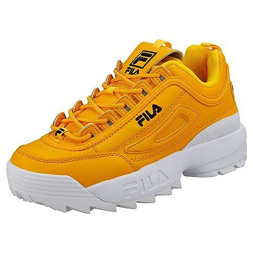 Fila Disruptor II Premium Donna Oro/Nero Sneaker-UK 7 / EU ...