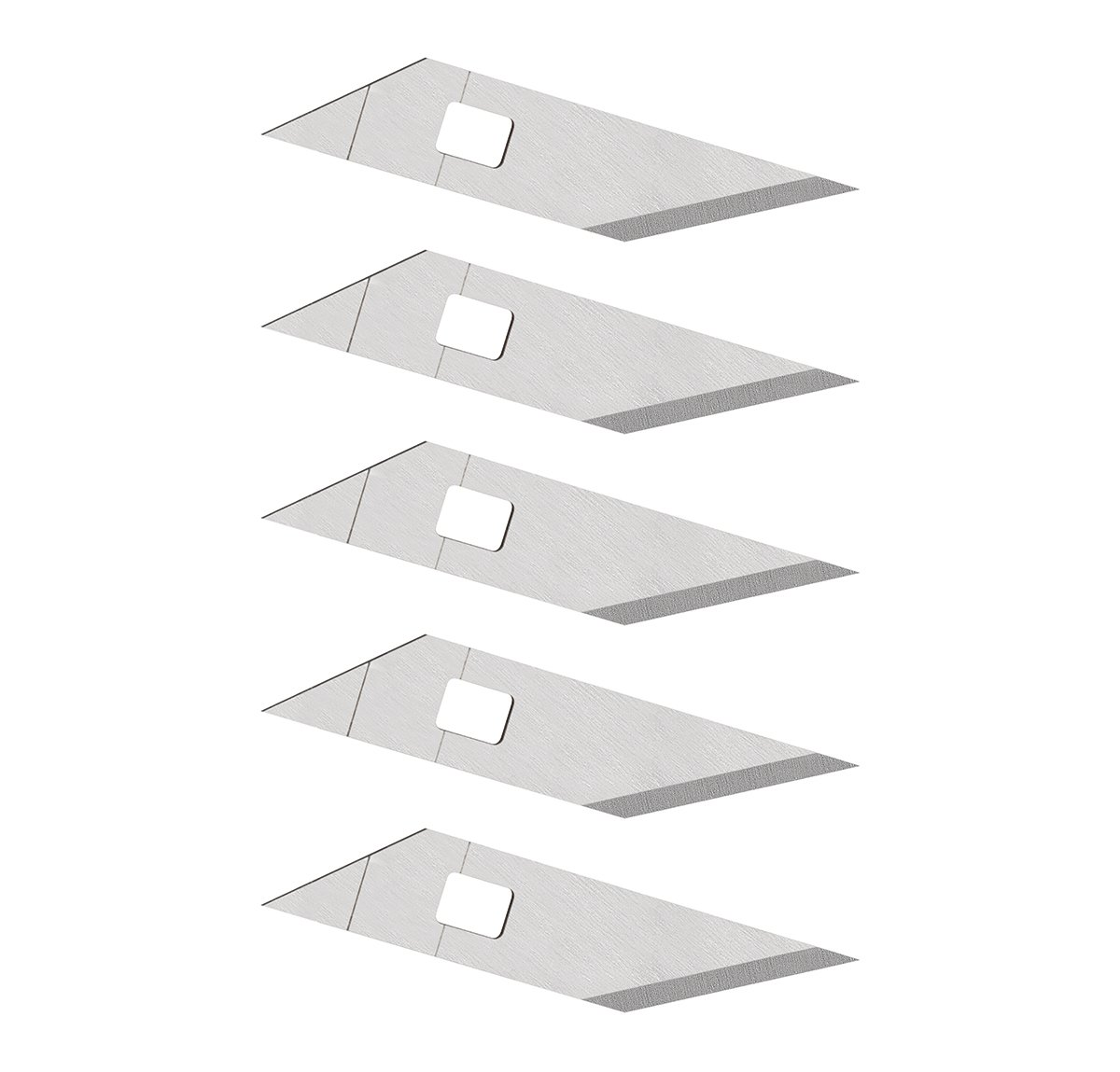 Wedo 7873 73 Set of 5 Spare Blades for Comfortline 78 730 Craft Tool