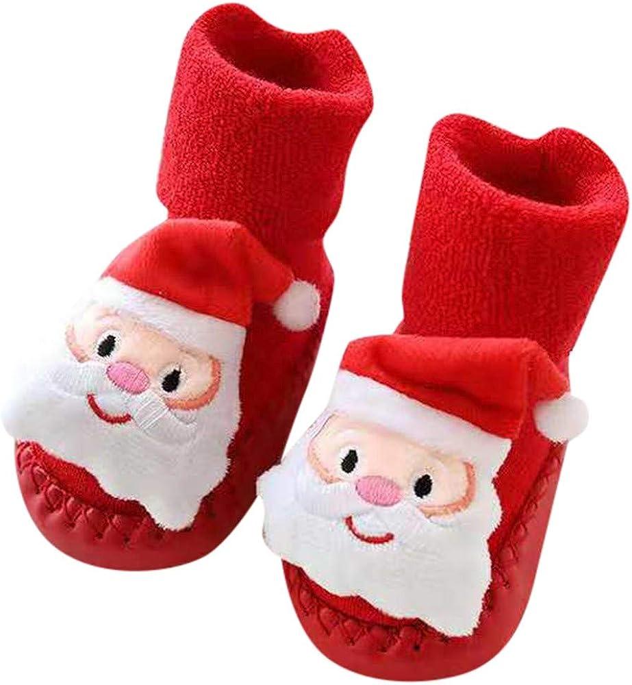 Huhu833 Baby Socken Weihnachten Socken Neugeborenes Baby Jungen M/ädchen Boden Socken Anti-Rutsch Baby Schritt Socken