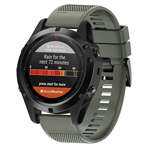 Dxlta Banda de reloj de silicona suave para Garmin Fenix 5X/Fenix 3/Fenix 3 HR