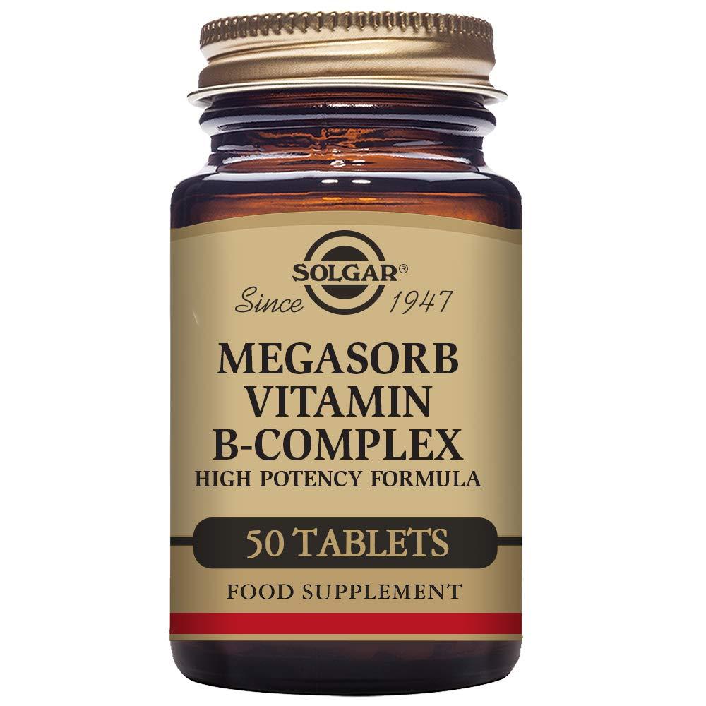 Solgar Megasorb B-Complex Vitaminas - 50 Tabletas: Amazon.es: Salud y cuidado personal