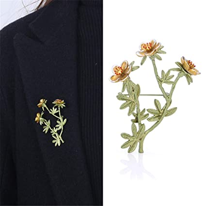 f2f6bb500f2 Techecho Branch and Flower Simple Design Women Brooches Brooch Pins Wedding  Brooches Bouquet Kit with Gift