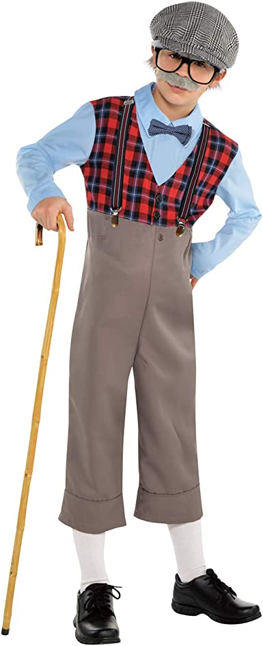 Lingway Toys Kids Little Old Man Costume Pretend to be Grandpa Costume for Boys