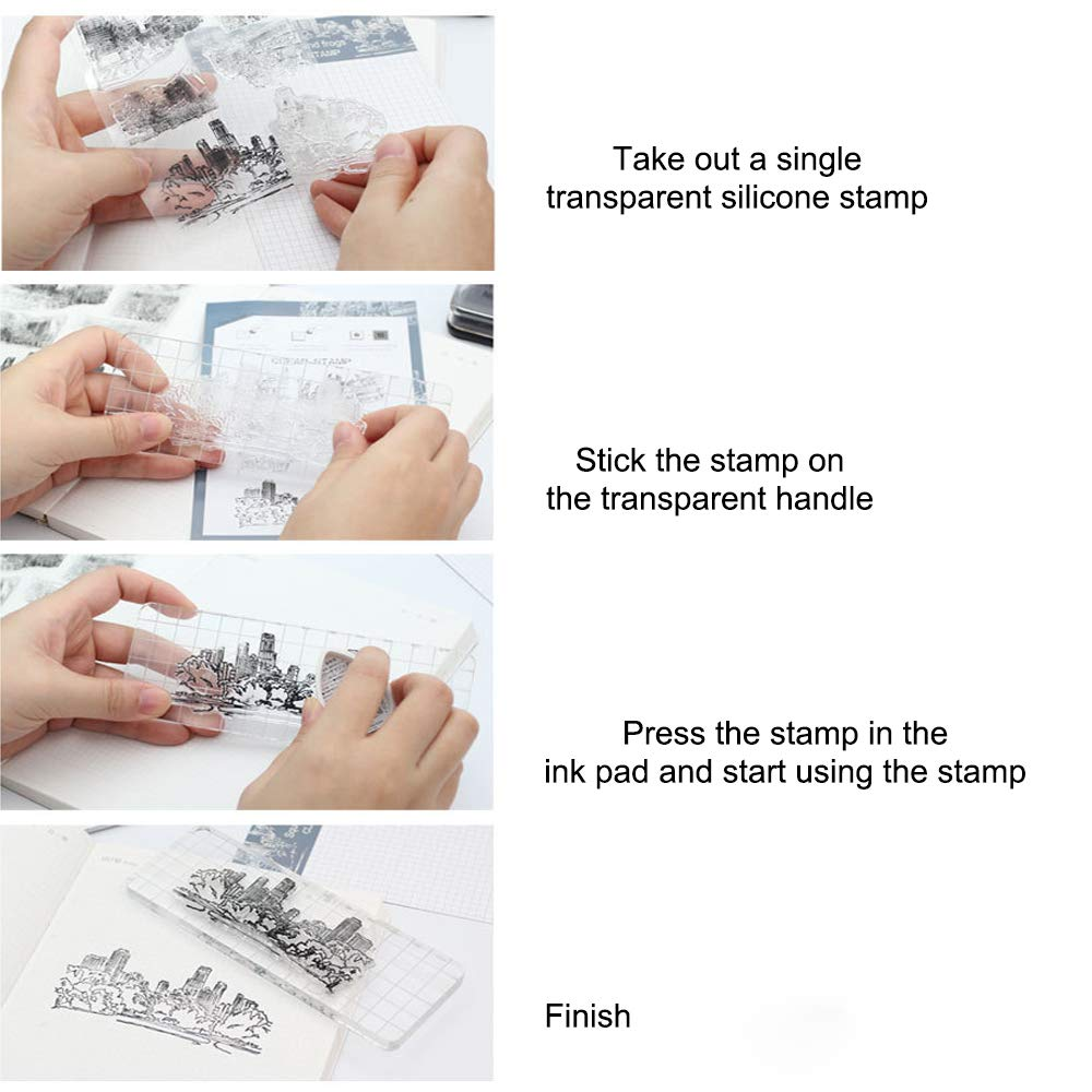 6 Sheets Silicone Clear Stamps for lCards Making DIY Scrapbooking Photo Card,Christmas Theme