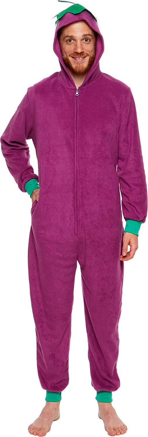 Silver Lilly Eggplant Costume One Piece Pajama Slim Fit Cosplay Jumpsuit