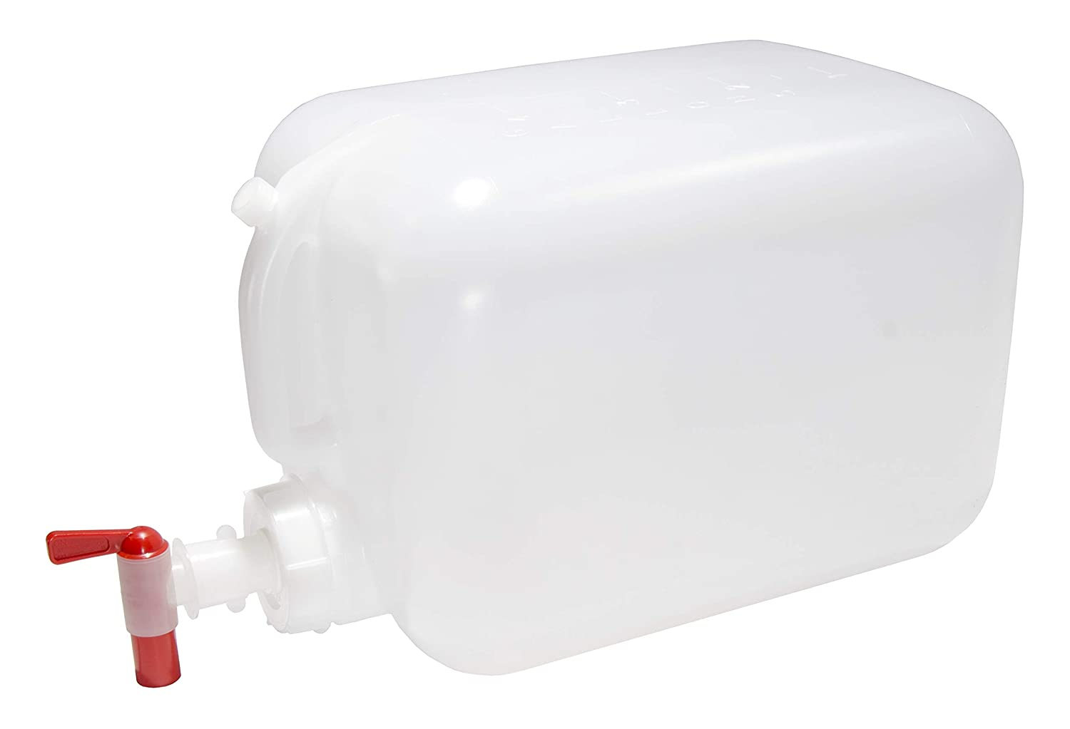 North Mountain Supply 5 Gallon Vented Plastic Hedpak/Carboy - With Cap & Faucet